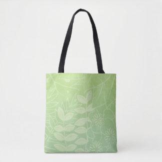 Bolso De Tela Follaje tropical Té-Verde todo encima - imprima la
