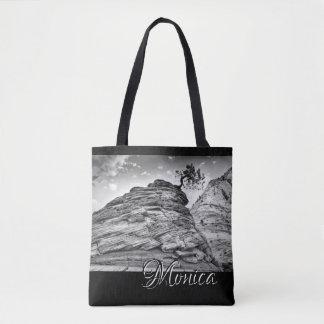 Bolso De Tela Foto blanco y negro personalizada de los bonsais