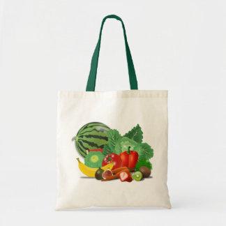 Bolso De Tela Frutas y verduras