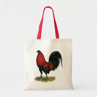 Bolso De Tela Gallo americano del rojo del negro del BB del