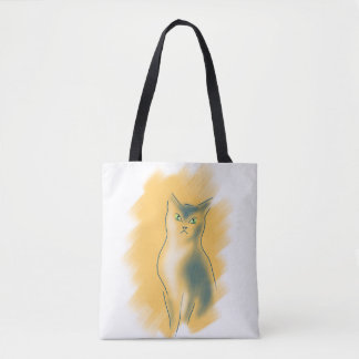 BOLSO DE TELA GATITO DEL AMANTE DEL CAT