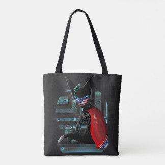 Bolso De Tela Gato de Ninja del Cyberpunk