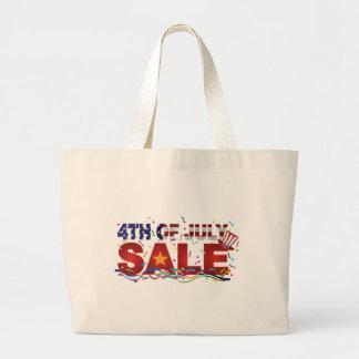 Bolso De Tela Gigante 4to del texto de la venta de julio con confeti de