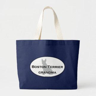 Bolso De Tela Gigante Abuela de Boston Terrier