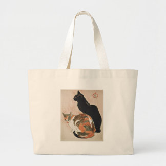 Bolso De Tela Gigante Acuarela - 2 gatos - Théophile Alejandro Steinlen
