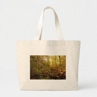 Bolso De Tela Gigante Árboles del otoño en el arroyo de Willard