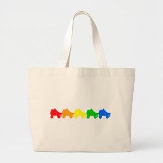 Bolso De Tela Gigante arco iris del patín de ruedas