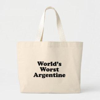 Bolso De Tela Gigante Argentina peor del mundo