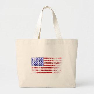 Bolso De Tela Gigante Bandera americana apenada