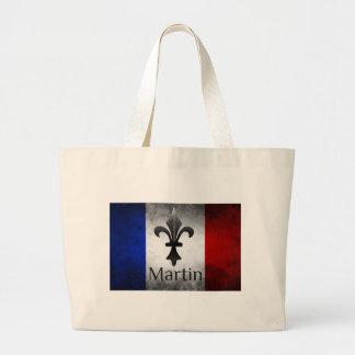 Bolso De Tela Gigante Bandera del francés de Martin