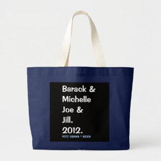 Bolso De Tela Gigante Barack Michelle Joe y tote conmemorativo de Jill