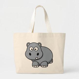 Bolso De Tela Gigante Bebé del hipopótamo