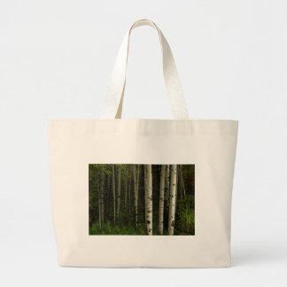 Bolso De Tela Gigante Bosque blanco