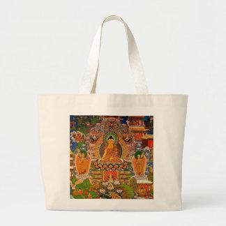 Bolso De Tela Gigante Buddhism budista de Buda que bendice al bohemio de
