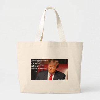 Bolso De Tela Gigante Camisa de Donald Trump, camisa política, elección