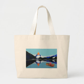 Bolso De Tela Gigante Canotaje por arte de las montañas
