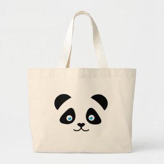 Bolso De Tela Gigante cara del oso de panda