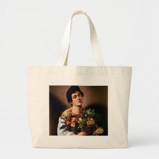 Bolso De Tela Gigante Caravaggio - muchacho con una cesta de