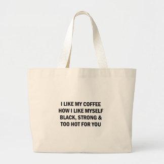 Bolso De Tela Gigante Como mi café