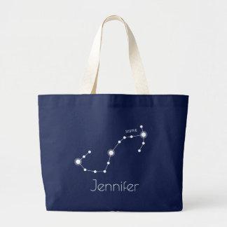 Bolso De Tela Gigante Constelación personalizada del zodiaco del