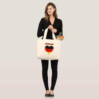 Bolso De Tela Gigante Corazón alemán