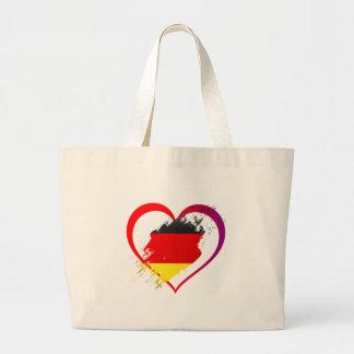 Bolso De Tela Gigante Corazón de Alemania