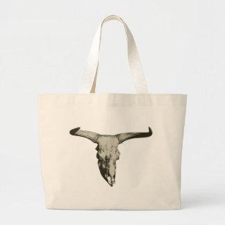 Bolso De Tela Gigante Cráneo del bisonte