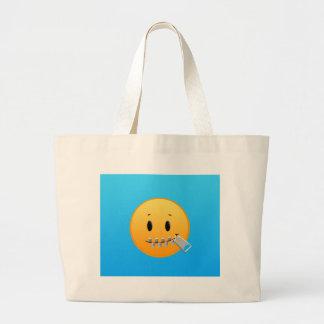 Bolso De Tela Gigante Cremallera Emoji