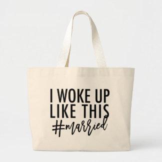 Bolso De Tela Gigante ¡Desperté como esto #married!
