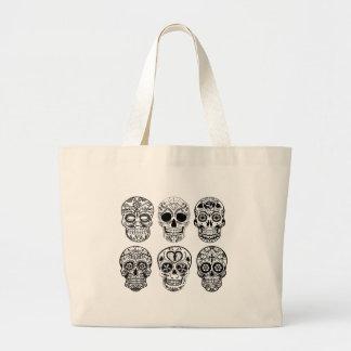 Bolso De Tela Gigante Dia de los Muertos Skulls (día de los muertos)