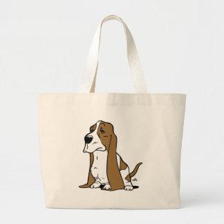 Bolso De Tela Gigante Dibujo animado del perro de afloramiento