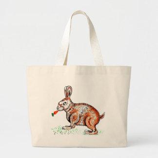 Bolso De Tela Gigante Dibujo lindo del conejo