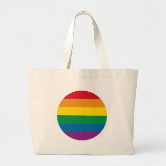 Bolso De Tela Gigante Diseño colorido del arco iris del orgullo el |