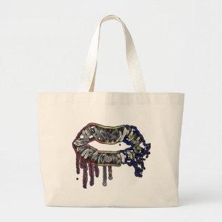 Bolso De Tela Gigante Diseño de los labios del arco iris