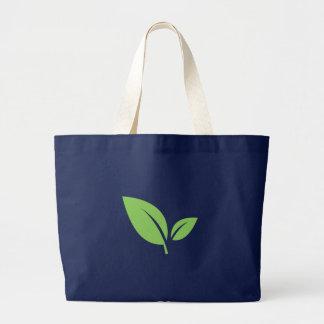 Bolso De Tela Gigante Diseño gráfico azulverde verde de la vida el |