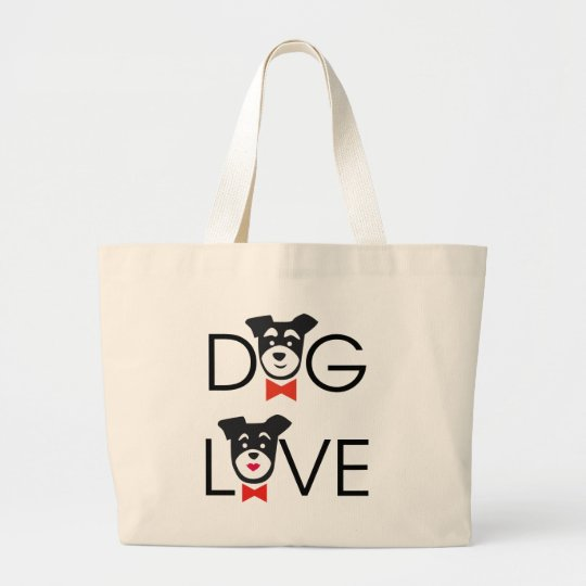 Bolso De Tela Gigante Dog Love