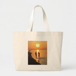 Bolso De Tela Gigante Dos amantes en la salida del sol