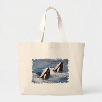 Bolso De Tela Gigante Dos orcas
