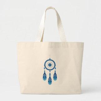 Bolso De Tela Gigante Dreamcatcher azul