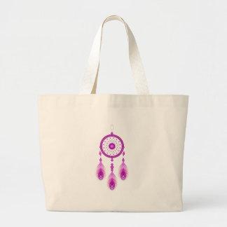 Bolso De Tela Gigante Dreamcatcher rosado