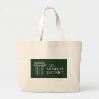 Bolso De Tela Gigante El logotipo del distrito del museo
