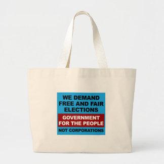 Bolso De Tela Gigante Elecciones libres y justas