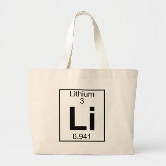 Bolso De Tela Gigante Elemento 003 - Li - litio (lleno)