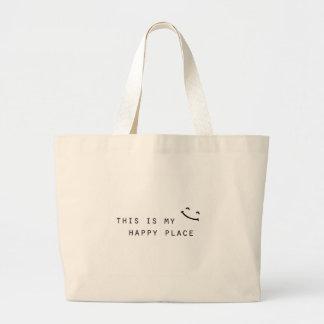 Bolso De Tela Gigante éste es mi diseño moderno simple del lugar feliz