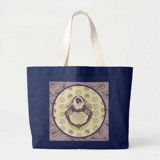 Bolso De Tela Gigante Etiqueta francesa del jabón de la coqueta de