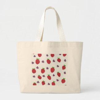 Bolso De Tela Gigante Fresas y señora Bugs Fruity Pattern