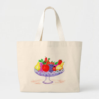 Bolso De Tela Gigante Fruta en arte del florero