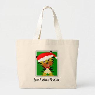 Bolso De Tela Gigante Gorra lindo de Santa del navidad de Yorkshire