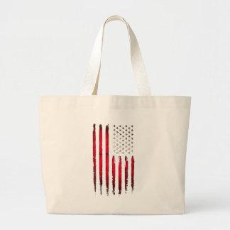 Bolso De Tela Gigante Grunge del rojo de la bandera americana