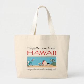 Bolso De Tela Gigante Hawaii por Harrop-T-b